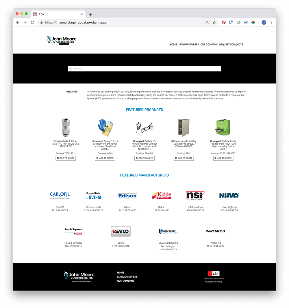 Example RDX Homepage